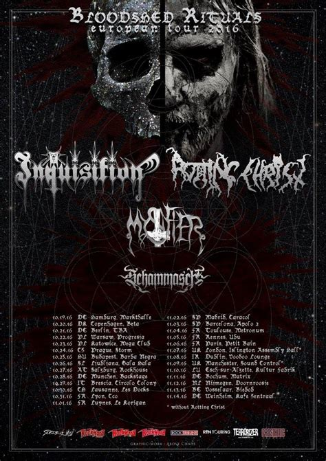 Rotting Christ and Inquisition announce co-headlining tour