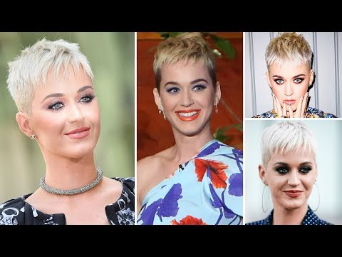 Katy Perry Medium Curly Blue Emo Updo