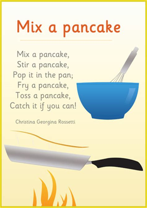 Early Learning Resources Mix a Pancake Poster