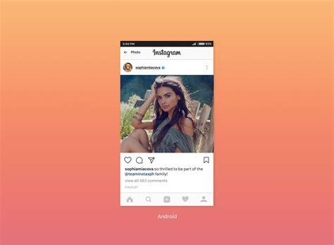 Free Instagram Feed Screen UI Mockup 2017 - Good Mockups