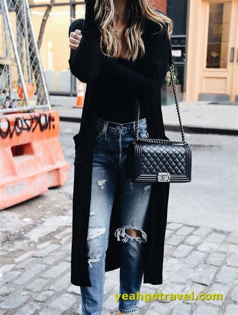48 Women Winter Outfits With Jeans and Cardigan