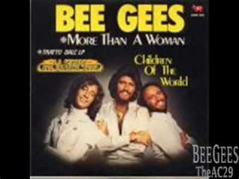Bee Gees - More Than A Woman (With Lyrics) - YouTube