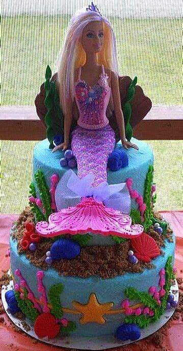 Barbie Mermaid Under the Sea Birthday Cake! **Cakes by