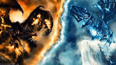 Download Fire And Ice Dragon Wallpaper Gallery
