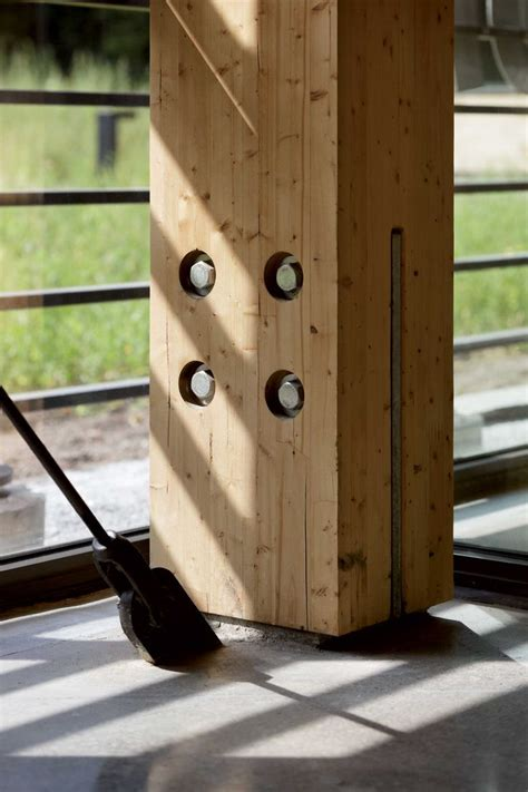 Glulam Column to Floor Connection Detail | Timber