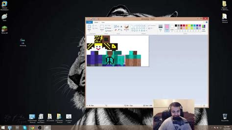 How to make a Minecraft skin using Windows Microsoft Paint