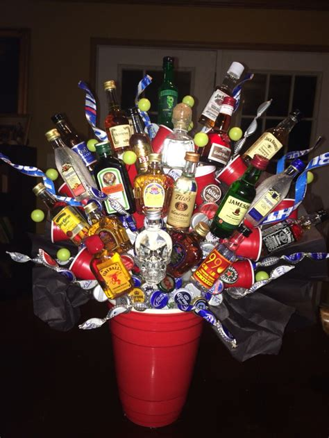 21st birthday alcohol bouquet | Cute gift ideas