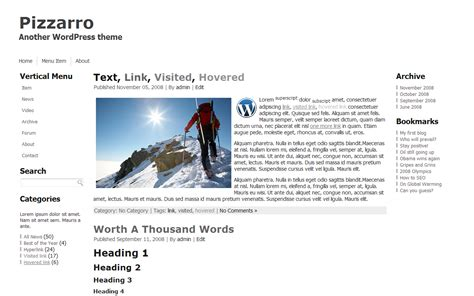 Free WordPress themes (templates) 2013 - several languages