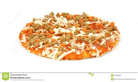 Small uncooked pizza stock image