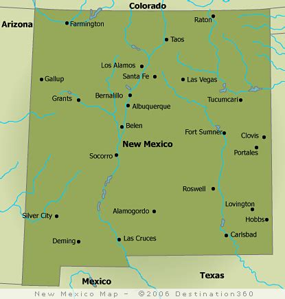 New Mexico Map - New Mexico State Map