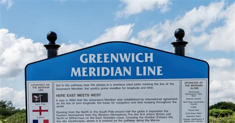Lincolnshire Cam: The Greenwich Meridian line, Cleethorpes
