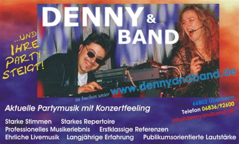 DENNY & BAND 1a PartyDuo, Livemusik inkl