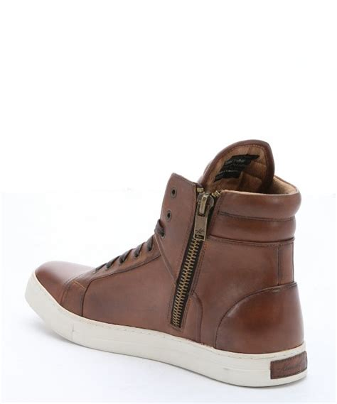 Lyst - Kenneth Cole Cognac Leather 'double Header' Side