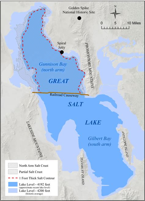 Salt Crust on Great Salt Lake's North Arm – Utah