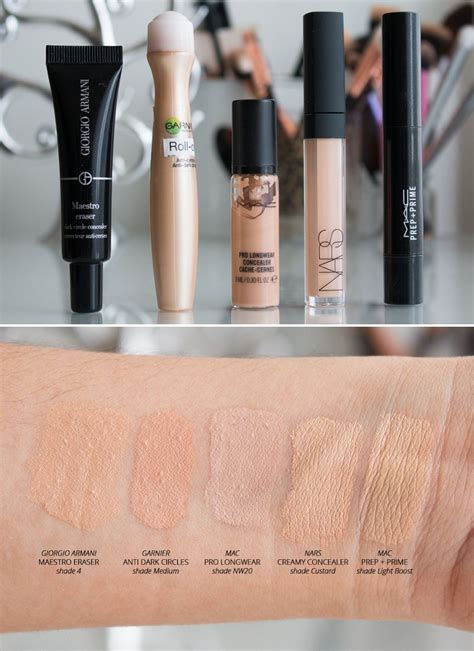 My Top 5 Concealers 2015 - Swatches (with and without