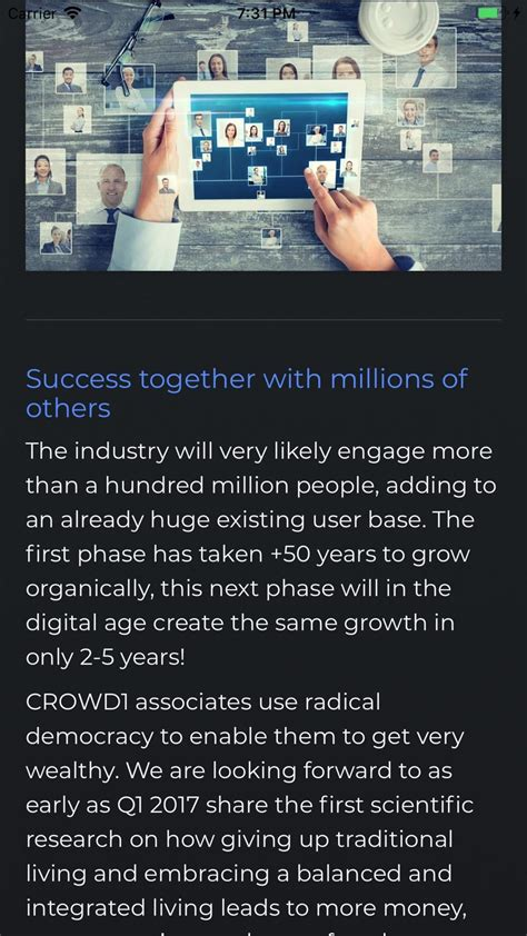 Crowd1 Network for iOS - Free download and software