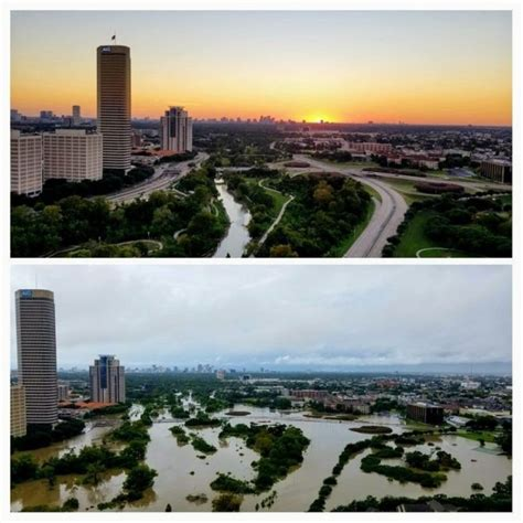Before And After Photos Show Aftermath Of Houston Flood (6