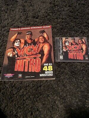 WCW NITRO: PS1 Playstation 1 Game And Official Strategy