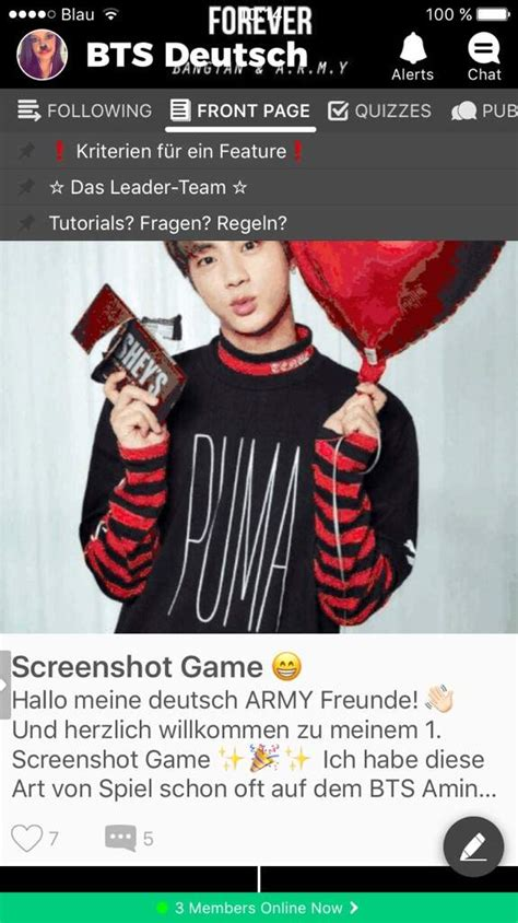 Screenshot Game 😁 | BTS Deutsch Amino