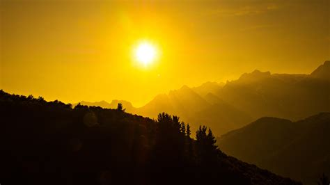 Beautiful Sun Dark Mountains Wallpapers | HD Wallpapers