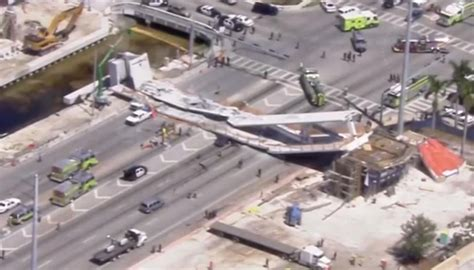 Several reported dead after new Florida bridge collapses