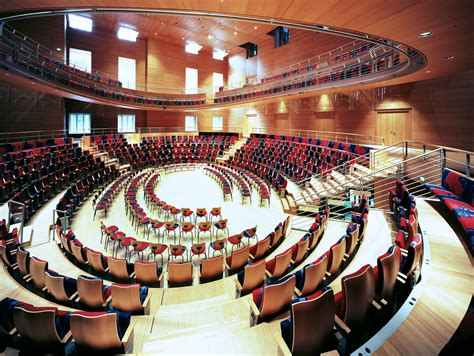 Concert hall in Barenboim Said academy in Berlin by Fra