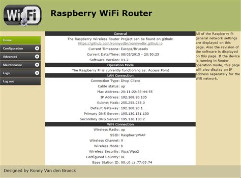 Raspberry Pi - Wifi Router Project