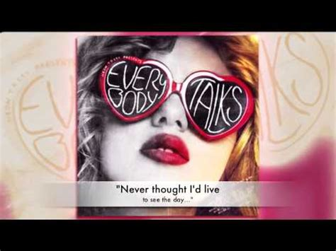 Neon Trees - Everybody Talks (with lyrics) - YouTube