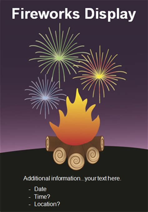 Early Learning Resources Guy Fawkes / Bonfire Night Poster