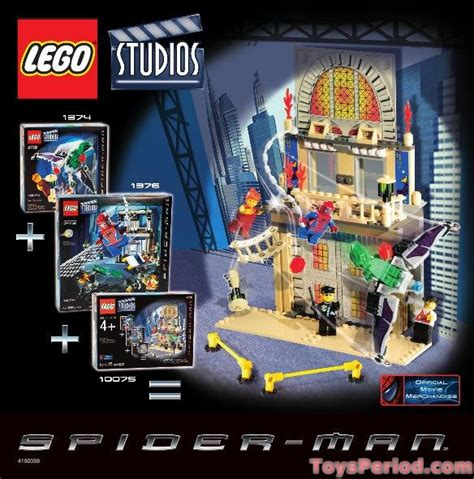 LEGO 10075 Spider-Man Action Pack Set Parts Inventory and