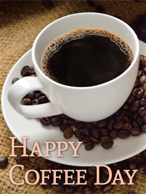 Just Dripped! Happy Coffee Day Card   Birthday & Greeting