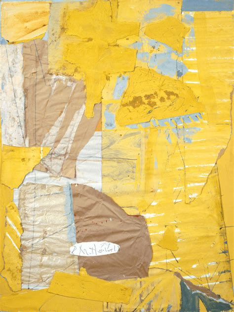 Robert Motherwell | Collage in Yellow and White, with Torn