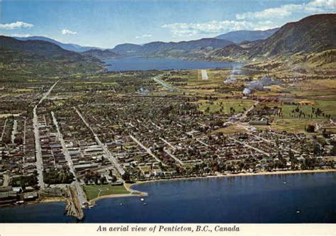 Aerial View of Penticton British Columbia Canada