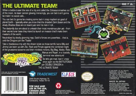 Battletoads & Double Dragon - The Ultimate Team (USA) SNES