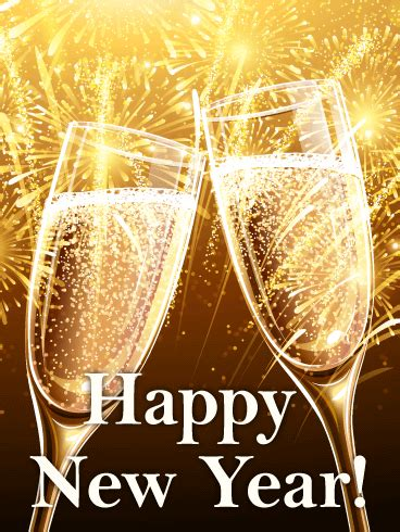Time to Celebrate! Happy New Year Card   Birthday