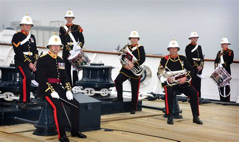 Audiences at Her Majesty's Royal Yacht Britannia enjoy a