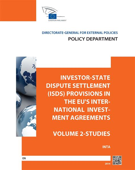 Study on Investor-State Dispute Settlement ('ISDS') and