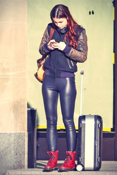 Lena Meyer-Landrut out and about in Berlin - Leather