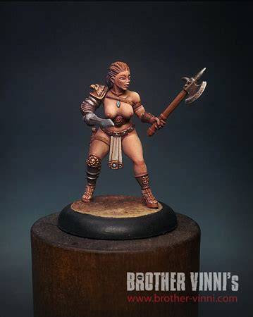 CoolMiniOrNot - Female Gladiator by Brother Vinni