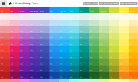 Tools For Generating Material Design Color Palettes » CSS