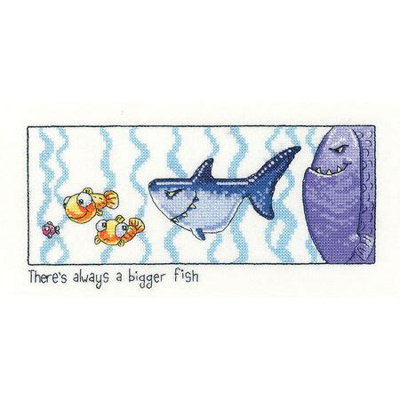 Always Bigger Fish Cross Stitch Kit only £17