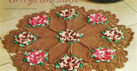 Crochet: ROUND FLOWER CARPET - STAR